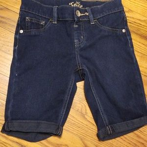 Justice Girls Denim Stretchy Shorts Size 10 R